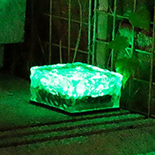 Yajun Solar Light Outdoor Lawn Path Decorative Night Lighting Waterproof LED Brick Cube Landscape Lamp For Home Park Garden,Green