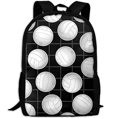 TTmom Schulrucksack,Schüler Bag,Rucksack Damen Herren Stylish Volleyball Sports Laptop Backpack School Backpack Bookbags College Bags Daypack