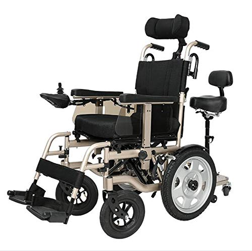 Foldable Power Compact Mobility Aid wheelchair Double,Lightweight Electric Wheelchair Portable Medical Scooter,Weighing Only 66 Pounds - Supports 265 Lb,With Pedals And Seats,Lithium battery15a