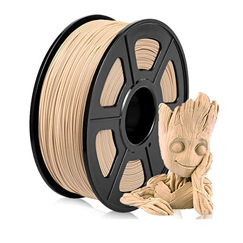 Pla Wood Filament Wood Filament 3D Printer Pla Wood Fill Pla Wood 1.75mm, Rohs Compliance, 1 kg Spool, Dimensional Accuracy +/- 0.03 mm Pla Wood Color
