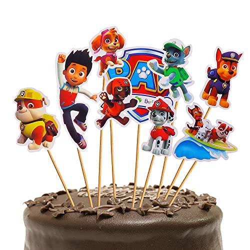 Sinwind Torta Compleanno Toppers,36 Pezzi Cake Topper Personalizzato Toppers,Decorazioni per Cupcake, Decorazioni per Bambini,Fai da Te a TemaDecorazione della Torta della Festa di Compleanno