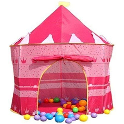 Crystals Children Kids Pop Up Wizard Princess Castle Playing Tent Indoor Outdoor Playhouse Fun Toy