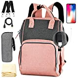 Nappy Bag,Rimposky Large Baby Bag,Multi-Functional Travel Back Pack,Anti-Water Maternity Diaper Bag Backpack Changing