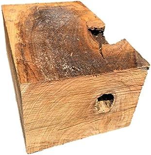 【送料無料!】ケヤキ 欅 けやき ブロック 角材 カット材 粗木 DIY ディスプレイ 310×210×150㎜ 【ワールドデコズ】