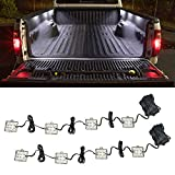 LEDGlow 8pc White Truck Bed Cargo LED Lighting Kit - Universal - Durable, Waterproof Pod Lights Mount Under The Bed Rails - Includes On/Off Toggle Power Switch