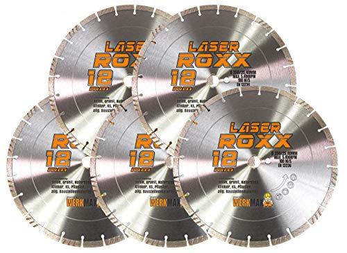 5er-SET   Neuentwicklung: Laser ROXX Diamantscheibe 350 x 25,4 mm   universal