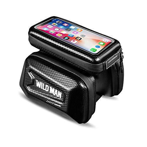 WSXEDC - Funda para teléfono móvil impermeable con pantalla táctil de TPU impermeable para bicicleta de montaña, soporte para teléfono móvil, diseño a prueba de salpicaduras (E6)