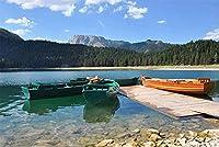 ジグソーパズル1000ピースパズルブラックレイクボートの装飾手仕事ギフト(50x75cmカスタマイズ可能な写真)