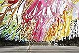 N / A Pintura de Diamante, Paisaje de Rayas de Color 5D DIY Kit de Pintura de Diamantes Cuadro de Bordado de Punto de Cruz de Diamante Cuadrado Completo decoración del hogar sin Marco 40x60cm