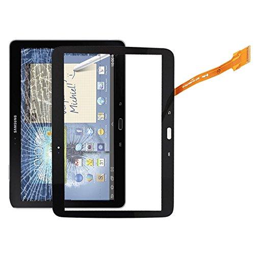 Yukiki Panel táctil digitalizador for Galaxy Tab 3 10.1 P5200 / P5210 (Blanco) (Color : Black)