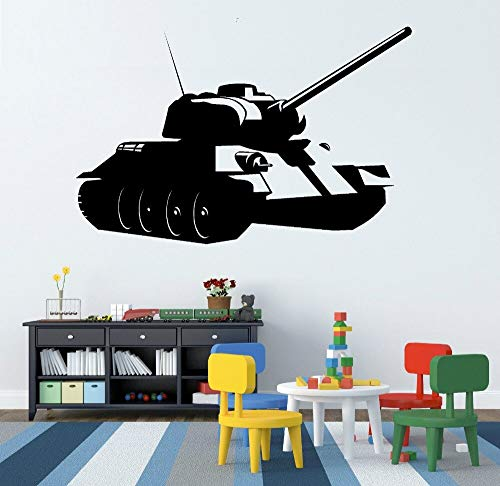 HNXDP Umwelt Krieg militärische waffen tank wandaufkleber vinyl DIY junge zimmer Kunstwand wandtattoos wohnkultur F80 42x65 cm