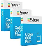Polaroid Originals Film Couleur pour 600 - Lot de 3 paquets (24 photos)