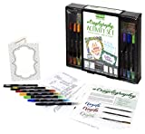 Crayola Signature Crayoligraphy Hand Lettering Art Set Age 14+, Multicolor (04-0346)