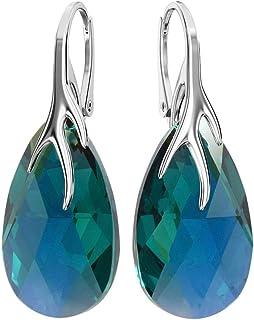 34abc79c0 Crystals & Stones * Amande * 22 mm Couleur Emerald AB * Belle Boucles d'