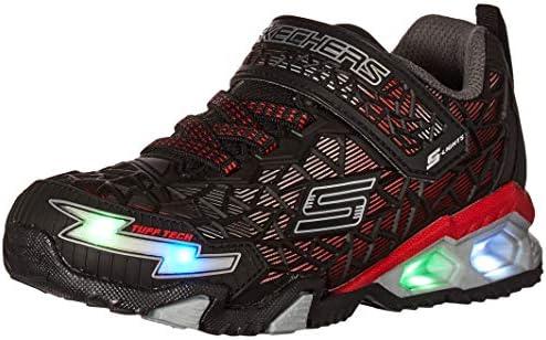 Skechers boys Lighted Lighs Lighted Sport Lighted Sneaker Black Red 13 Little Kid US product image