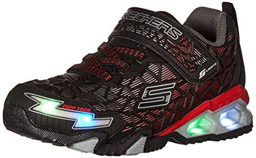 Skechers boys Lighted, Lighs, Lighted, Sport Lighted Sneaker, Black/Red, 13.5 Little Kid...