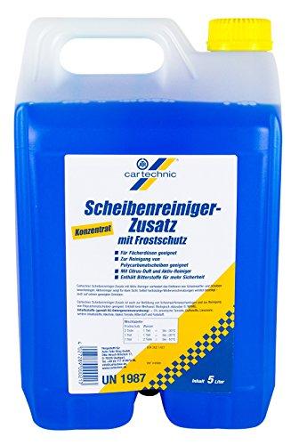Cartechnic Scheibenreiniger-Zusatz mit Frostschutz Konzentrat 5L