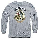 Long Sleeve: Harry Potter- Hogwarts Distressed Crest Longsleeve Shirt Size XL