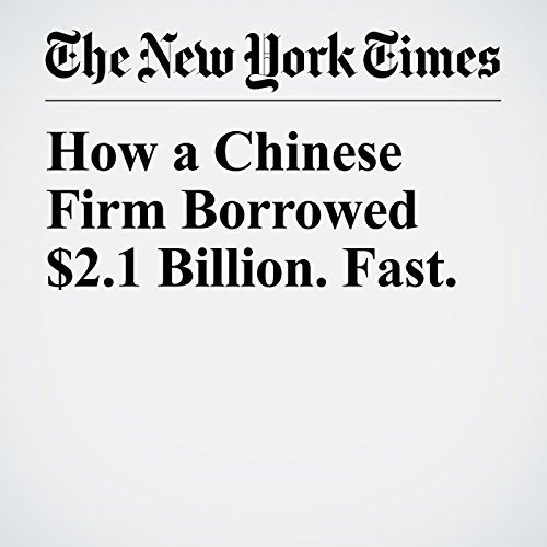 How a Chinese Firm Borrowed $2.1 Billion. Fast. copertina