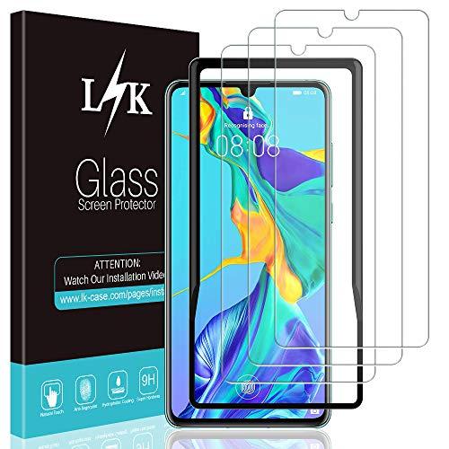 L K 3 Stücke Panzerglas Schutzfolie für Huawei P30, [Bubble Free] [9H Festigkeit] [Einfache Installation] HD Klar Gehärtetem Glas Bildschirmschutzfolie