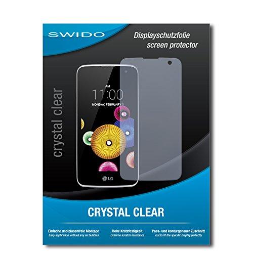 SWIDO Schutzfolie für LG K4 [2 Stück] Kristall-Klar, Hoher Festigkeitgrad, Schutz vor Öl, Staub & Kratzer/Glasfolie, Bildschirmschutz, Bildschirmschutzfolie, Panzerglas-Folie