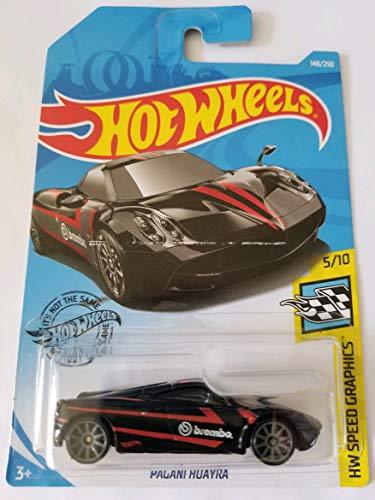 Hot Wheels 2019 Hw Speed Graphics - Pagani Huayra, Black 148/250