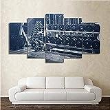 HD Gedruckt Rahmen Modulare Bilder Wandkunst Dekoration 5 Panel Gym Hanteln Wohnzimmer Moderne...