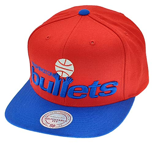 Mitchell & Ness - Cappellino con Visiera dei Washington Wizards Bullets NBA