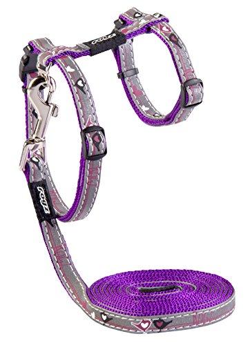 Rogz ReflectoCat Cat Harness and Leash Set - Purple