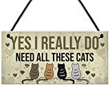 Meijiafei Really Do Need All These Cats Sign Home Funny Crazy Cat Lady Sign Pet Lover Gift 10' X 5'