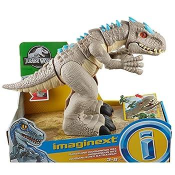 Imaginext Jurassic World Thrashing Indominus Rex Dinosaur Set for preschool kids ages 3 years and up