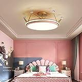 Waqihreu Lámpara de Techo LED Regulable, Lámpara de Techo Moderna de 34 W con Control Remoto, Temperatura de Color Ajustable, Pantalla de acrílico Iluminación Interior, D 50cm * H 21cm, Rosa
