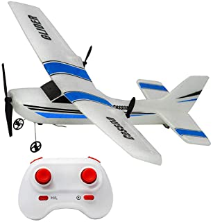 RC Plane Ready to Fly, 2.4Ghz 2 Channels Remote Control Airplane, Durable EPP Built-in 3-Axis Gyro Glider Airplane, Stabil...