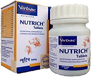 Virbac Nutrich Tablets for Dogs and Cats by Jolly and Cutie Pets (60 Tablets)