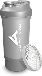 Shaker à protéines 700 ml FYRA étanche - sans BPA avec compartiment à poudre, tamis et balance pour shakes crémeux, tasse...