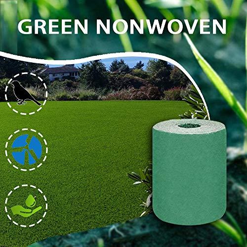 Breale 1/2PCS Gras Tapis en non-tissé Biodégradable Gras Tapis de légumes Gras Gras Gras Engrais Coussin Graines d'herbe écologique Tapis de plantation pour jardin pelouse 160 x 320 cm 2pcs vert