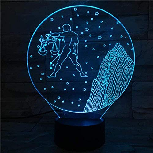 3D Illusion Lampe Waage Muster Acryl Nachtlicht 16 Farben Ändern Mit Fernbedienung Und Smart Touch Kreative Tischlampe Stimmungslicht Besten Geschenke Für Kinder