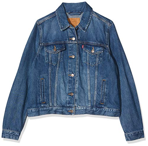 Levi's Damen Original Trucker' Jeansjacke, Blau (Soft As Butter Dark 0063), L