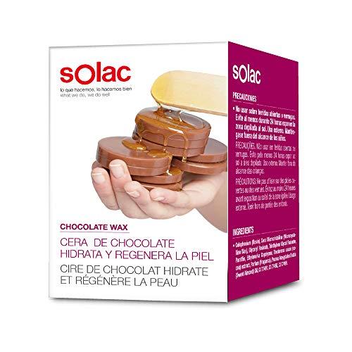 Solac DC7500 - Paquete de 10 discos de cera depilatoria caliente de chocolate, hidrata y regenera la piel, 200 g