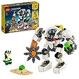 LEGO 31115 Creator 3-in-1 Weltraum-Mech, Weltraumroboter oder Lastenträger Spielzeug, Actionfigur Bauset mit Alien Figur