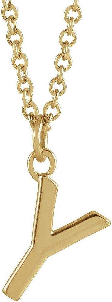 Alphabet Initial Letter Dangle Charm Pendant Chain Necklace 16