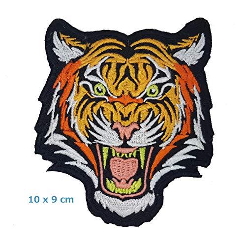 Tiger Backpatch R/ückenaufn/äher XXL 20 x 22 cm