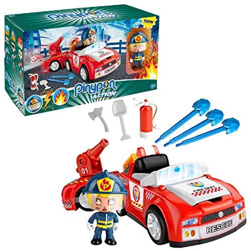 Pinypon Action- Bombero Vehículos de Acción, para niños y