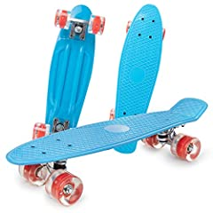 SUITABLE FOR ALL LEVEL SKATERS - This well-built skateboard is safe to ride and suitable for any level of riders:kids,youth,adults, no matter whether you're a beginner or experienced rider. DURABLE & STABLE - High speed ABEC- 7 Bearings;60mm Super Sm...
