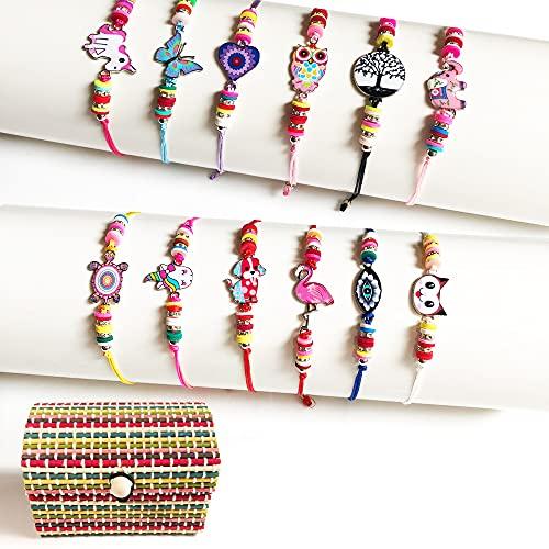 DIY Charm Bracelet Making Kit,Kids Craft Kits,Toys,Best Unicorn Birthday Christmas Gifts for Teen Girls,7,8,9,10,11,12 Year Old Girl Gifts,Jewelry Making Set,Friendship Bracelet