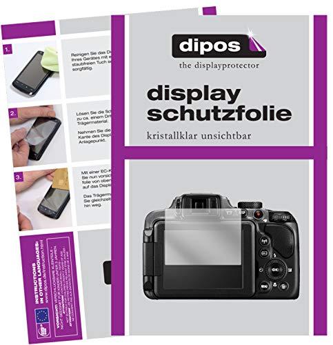 dipos I 2X Schutzfolie klar kompatibel mit Nikon Coolpix B600 Folie Displayschutzfolie