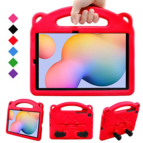 BelleStyle Kids Case for Galaxy Tab S6 Lite 10.4 2020, Shockproof Protective Case Kids Friendly Handle Stand Panda Cover for Samsung Galaxy Tab S6 Lite 10.4 Inch SM-P610/P615 2020 Released, Red