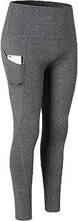 JEELINBORE Sporthose Damen Yogahose Laufhose Fitnesshose Leggins Yoga Sport Leggings Tights mit Taschen Hohem Bund Kompressionshose für Damen