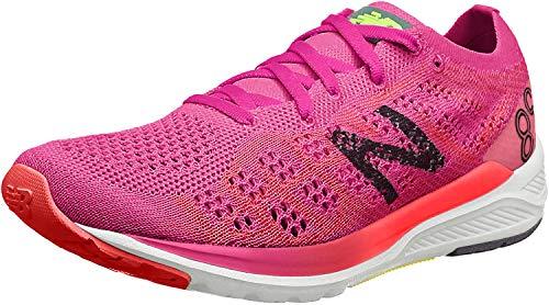 New Balance 890 V7 Neutralschuh Damen-Pink, Weiß, Zapatillas de Running Calzado Neutro Mujer, 37 EU