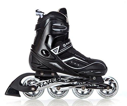 RAVEN Inline Skates Inliner Total Black Größe:43-46(26,5cm-29cm